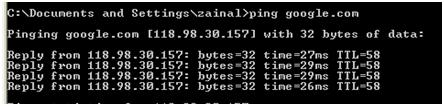 ping inet client