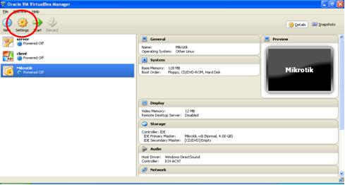 setting VirtualBox